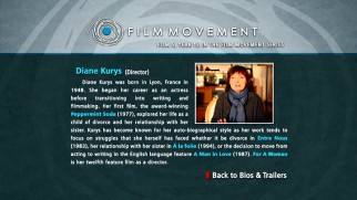 Writer-director Diane Kurys has her nearly 40-year filmmaking career discussed in a one-paragraph biography.