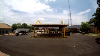 Time-lapse video shows a McDonald's restaurant being built for the movie.