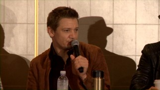 "Jeremy Renner, best known as an actor, discusses his duties as one of the producers of ""The Founder"" in the included LA press conference."