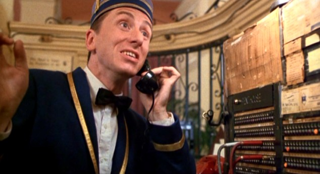 Ted the Bellhop (Tim Roth) grows more frazzled as New Year's Eve, his maddening first day on the job, progresses.