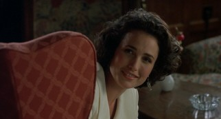Carrie (Andie MacDowell) reconnects with Charles at the inn where they're both staying.