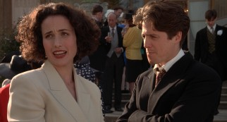 Three Months After Meeting At The First Wedding Carrie Andie MacDowell And Charles