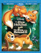 The Fox and the Hound & The Fox and the Hound 2: 2 Movie Collection Blu-ray & DVD combo pack cover art -- click to read our review.