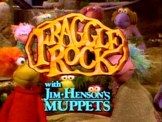 The Fraggle Rock title logo touts the use of Jim Henson's Muppets.