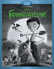 Frankenweenie 2-disc set (Blu-ray + DVD) combo pack cover art