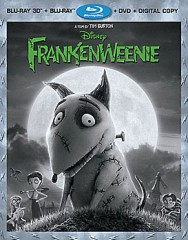Frankenweenie 4-disc set (Blu-ray 3D + Blu-ray + DVD + Digital Copy) combo pack cover art