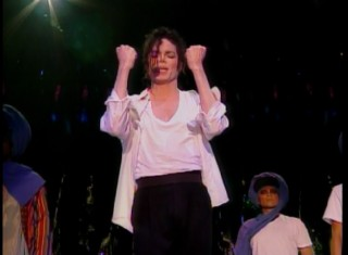 "Michael Jackson performs Free Willy's closing theme in his ""Will You Be There"" music video."