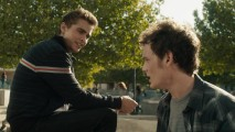 Charley (Anton Yelchin) stands up to Mark (Dave Franco) in this deleted lunch scene.