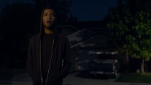 "Kid Cudi seems to be aiming for vampire, but ends up a bit more like E.T.'s Elliot in his ""No One Believes Me"" music video."