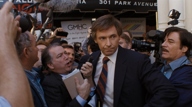 "Gary Hart (Hugh Jackman) evolves from presidential candidate to center of a scandal in Jason Reitman's ""The Front Runner."""