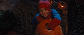 Dressed as a maimed Spider-Man, Albert (Jackson Nicoll) digs deep to score lots and lots of candy.