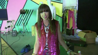 "Carly Rae Jepsen talks about her ""This Kiss"" music video from its set."