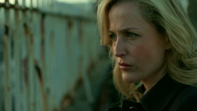 "Stella Gibson (Gillian Anderson) looks ahead to Series 2 of ""The Fall."""