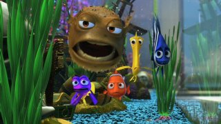 Nemo is welcomed into the Fishtank Gang.
