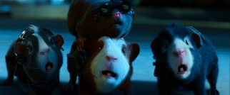 The G-Force team is thrust into action from the get-go. They are, clockwise from top, Speckles the mole (voiced by Nicolas Cage) and guinea pigs Blaster (Tracy Morgan), Darwin (Sam Rockwell), and Juarez (Penelope Cruz).