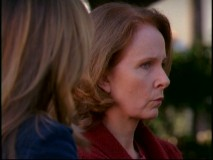 "Kate Burton shows up in a number of episodes to play Meredith's Alzheimer's-addled mother Ellis Grey. This scene is one of five deleted ones found in a section titled ""Dissecting 'Grey's Anatomy'."""