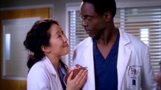 Christina suddenly becomes more lovey-dovey than usual with Preston (Isaiah Washington) once Colin Marrow arrives on the scene.