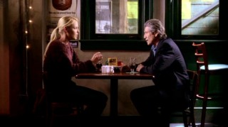 Izzie tries to cope with her grief of Denny's death by talking to his father (guest star Fred Ward).