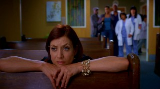 "Returning from her ""Private Practice"", kneeling Dr. Addison Montgomery (Kate Walsh) is thought to be deep in prayer, but she definitely hears the chatter from the back of the chapel."