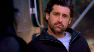 Derek Shepherd (Patrick Dempsey) has let himself go, as evidenced by his beard and country setting.