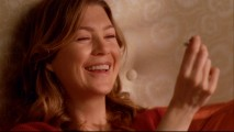"Ellen Pompeo gets a laugh from this engagement ring in the blooper reel ""In Stitches: Season Five Outtakes."""