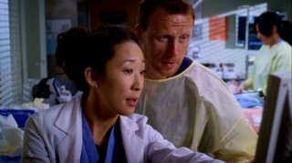 Cristina (Sandra Oh) and Owen (Kevin McKidd) are the hot new doctor couple at Seattle Grace Hospital.