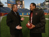 ESPN's Sean Salisbury lobs light, easy questions at The Rock.