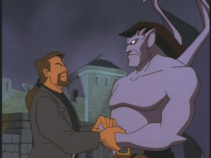 Xanatos and Goliath: the start of a beautiful friendship? Nah.