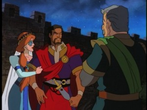 Fox and Xanatos enjoy a honeymoon time travel.
