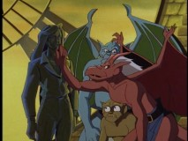 The gargoyles are a little underwhelmed and confused by the statue they think is a present from Elisa.