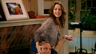 "Allison (Paula Marshall) ""helps"" Gary get over his back pain in the show's second episode."
