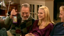 Allison's father Charlie (Martin Mull) appreciates Gary's idea of Thanksgiving afternoon with alcohol from a bottle and feet on furniture.