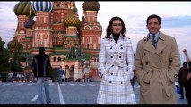 "In ""Max in Moscow!"", Anne Hathaway and Steve Carell pretend they're not green-screened in front of Russia, even though they weren't. You figure it out."