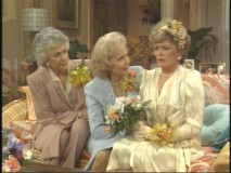 "Blanche's ill-fated wedding in ""The Engagement."""