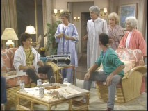 "Blanche's grandson and his hooligan friends crash ""On Golden Girls."""