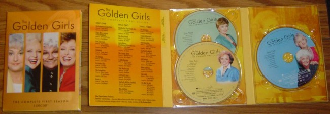 The Golden Girls: Season One - box and disc art.