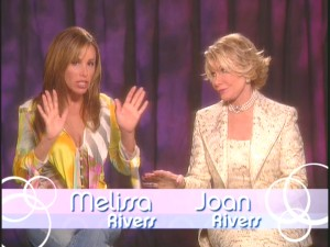 The mother/daughter tag team of Melissa and Joan Rivers host a fashion commentary, the lone featurette on the set.