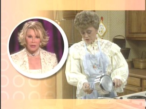 Joan Rivers comments on Blanche's frilly attire.