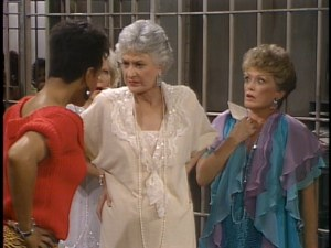 "Dorothy talks tough with hookers in jail in ""Ladies of the Evening."""