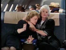 Dorothy takes out her flight apprehensions on Blanche.
