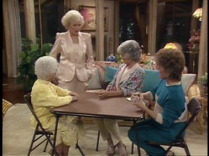 The girls play a little poker while Rose readies for a date.