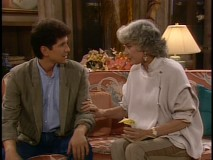 Dorothy counsels her son, Michael, on life's hard knocks.