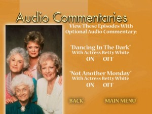 Disc Two's second audio commentaries screen offers double the Betty, double the White!