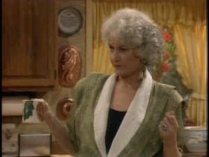Only Chuck Norris could stand up to a glare from Bea Arthur.