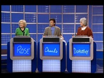 "Dorothy and Rose engage in a ""Jeopardy!"" battle of wits in ""Questions and Answers."""