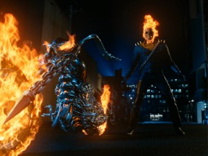 Here you have Ghost Rider, a flaming skeleton whose computer-generated appearance is apparently enough to greenlight a movie and take in millions.