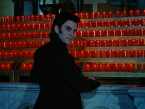 It's a demon in a church... ah, the irony. (Save your biggest tomato for Wes Bentley.)