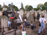 "The ""Vengeance"" featurette shows Nicolas Cage and Sam Elliott filming the earliest of their several graveyard scenes."