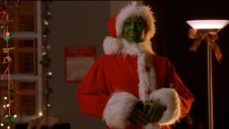 "As you might expect, Sue Sylvester (Jane Lynch) looks and acts the part of the Grinch in ""A Very Glee Christmas."""
