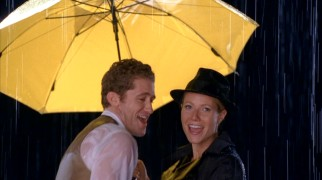 "Fusing ""Singin' in the Rain"" with Rihanna's ""Umbrella"", Will (Matthew Morrison) and Holly Holliday (Gwyneth Paltrow) keep the Glee Club both cultured and happy."